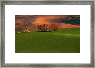 Chapel St Barbara. Moravia Framed Print by Jenny Rainbow