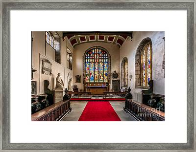 Chapel Stained Glass Framed Print by Adrian Evans