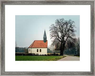 Chapel Under The Tree Framed Print by Daniel Precht