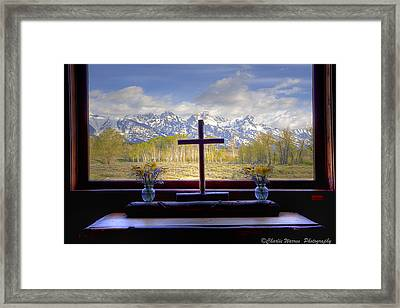 Chapel With A View Framed Print
