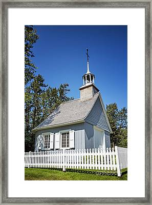 Chapel With Picket Fence Framed Print by Jane Rix