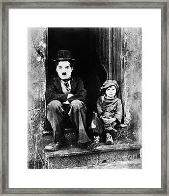 Chaplin: The Kid, 1921 Framed Print by Granger