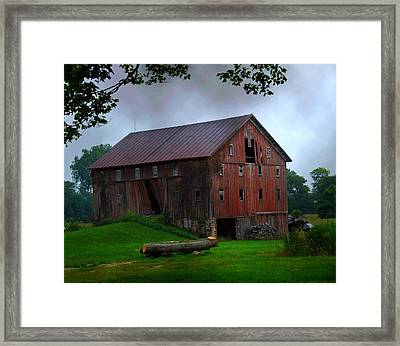 Chapman Lake Barn Framed Print