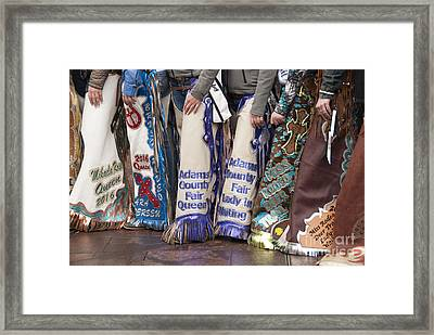 Chaps Framed Print
