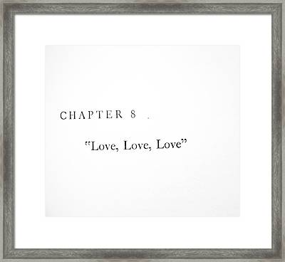 Framed Print featuring the photograph Chapter 8 Love Love Love Squared by Toni Hopper