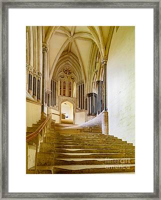 Chapter House, Wells Cathedral Framed Print by Colin Rayner