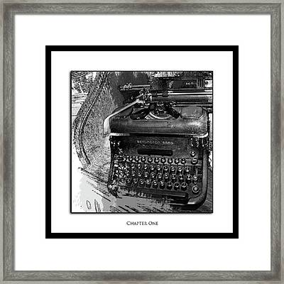 Chapter One Framed Print by Monroe Snook