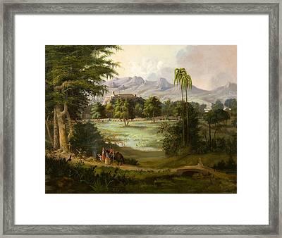 Chapultpec Castle Framed Print by Robert Seldon Duncanson