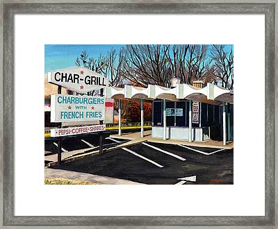 Char Grill Hillsborough St Framed Print