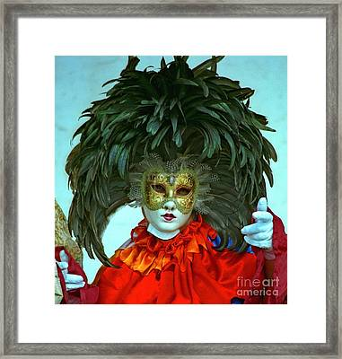 Character In Venice Framed Print by Michael Henderson