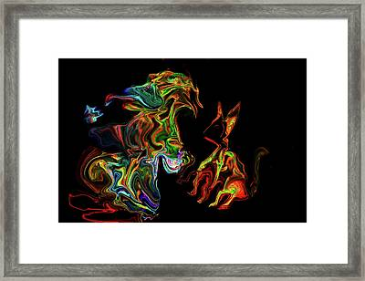 Character With Cat Framed Print