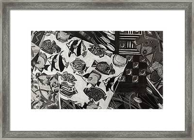 Charcoal Chaos Framed Print