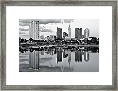Charcoal Columbus Mirror Image Framed Print by Frozen in Time Fine Art Photography