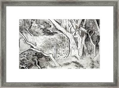 Charcoal Copse Framed Print