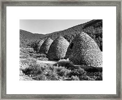 Charcoal Kilns Framed Print