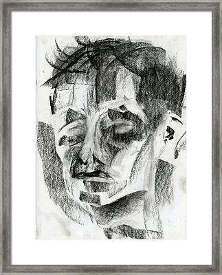 Charcoal Sketch Framed Print by Edward Fielding