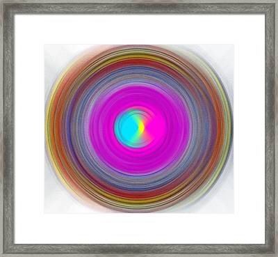 Charcoal Spiral Framed Print by Prakash Ghai