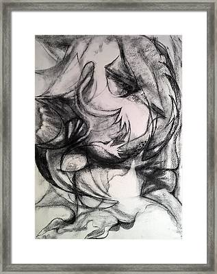 Framed Print featuring the drawing Charcoal Study by Nicolas Bouteneff