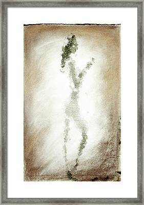 Charcoal Woman Framed Print