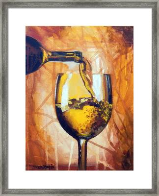 Chardonnay Hey Framed Print by Terry Cox Joseph
