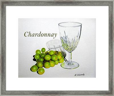 Chardonnay Framed Print by Marna Edwards Flavell