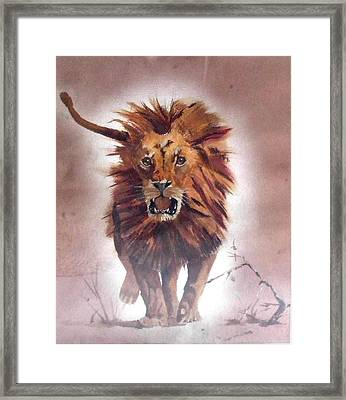 Charge Framed Print by Jane  Simpson