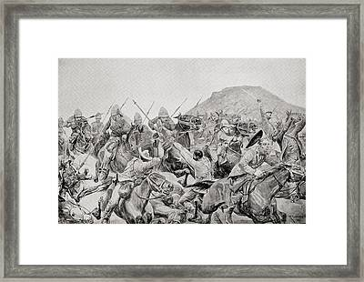 Charge Of The 5th Lancers At The Battle Framed Print by Vintage Design Pics
