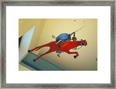 Charge To Death Framed Print by Jez C Self