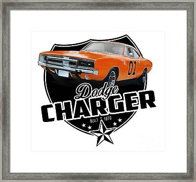 Charger From 1970 Framed Print by Paul Kuras