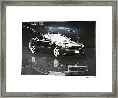 Charger Framed Print by Raymond Potts