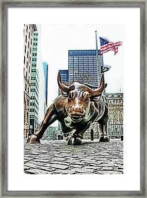 Charging Bull 3 Framed Print