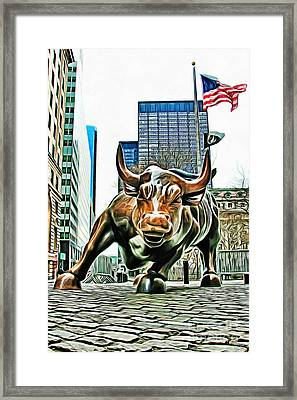 Charging Bull 3 Version 2 Framed Print