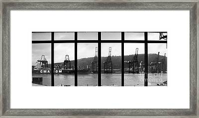 Charging Dock Of Barcelona Framed Print