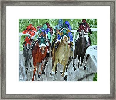 Charging Horses Framed Print by Parker JC