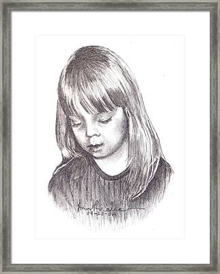 Charidy Framed Print by Anne Rhodes
