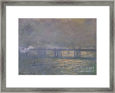 Charing Cross Bridge Framed Print by Celestial Images