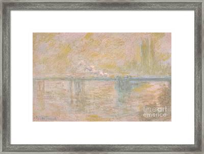 Charing-cross Bridge In London Framed Print by Celestial Images