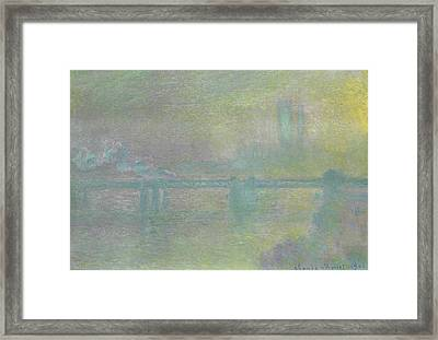 Charing Cross Bridge, London Framed Print by Claude Monet