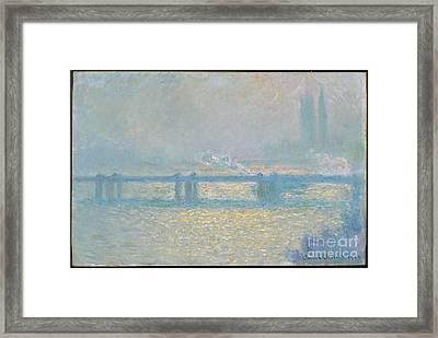 Charing Cross Bridge Framed Print by MotionAge Designs