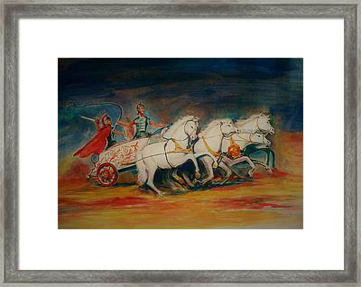Chariot Framed Print by Khalid Saeed