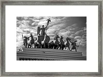Chariot Of Glory Framed Print by Alex Galkin