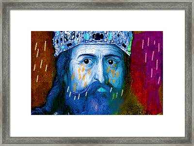Charlemagne Crying For Faithless Europa Framed Print by Paul Sutcliffe