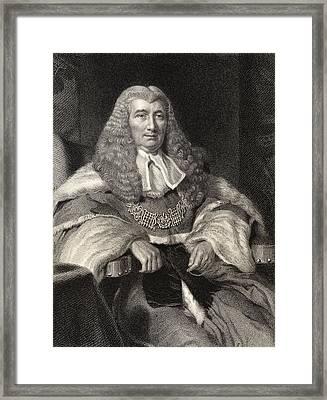 Charles Abbott 1st Baron Tenterden 1762 Framed Print by Vintage Design Pics