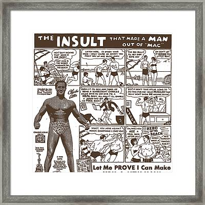 Charles Atlas Manly Man Framed Print by Edward Fielding