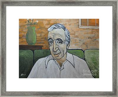 Charles Aznavour Framed Print by Reb Frost