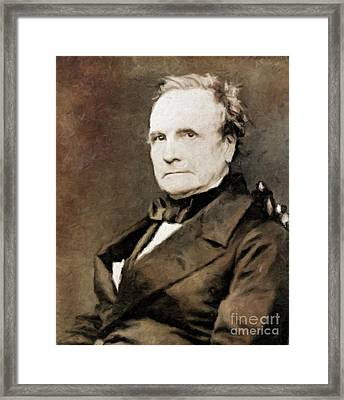 Charles Babbage, Inventor By Mary Bassett Framed Print by Mary Bassett