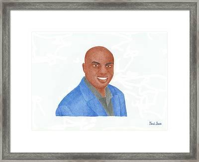 Charles Barkley  Framed Print by Toni Jaso