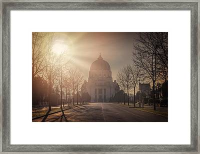 Charles Borromeo Church Zentralfriedhof Vienna Framed Print