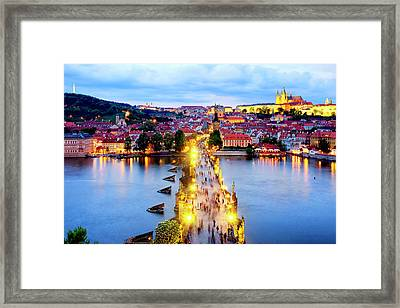 Framed Print featuring the photograph Charles Bridge by Fabrizio Troiani