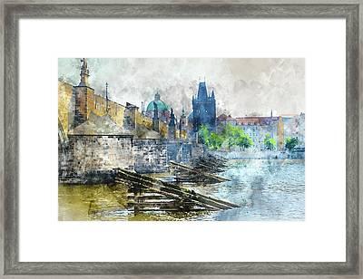 Charles Bridge In Prague Czech Republic Framed Print by Brandon Bourdages